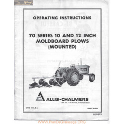 Allis Chalmers Ac 70 Series 10 12 Inch Plow Manual