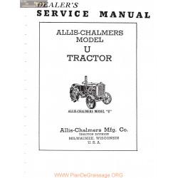 Allis Chalmers Ac U Service Manual Manual