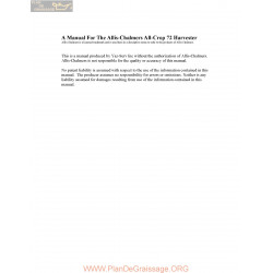 Allis Chalmers All Crop 72 Parts Manual