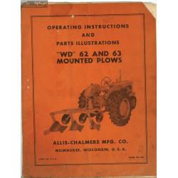 Allis Chalmers Allis Plow 62 63 Plow Manual