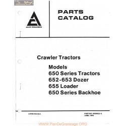 Allis Chalmers Crawler Tractors Models 650 Series Dozers