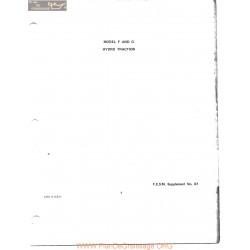 Allis Chalmers F G Hyrdo Service Manual