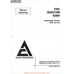 Allis Chalmers Fuel Injection Pump American Bosch Ape Series Parts Catalog