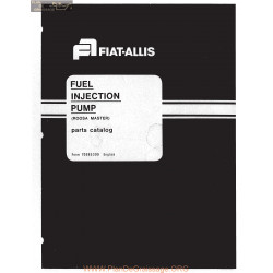 Allis Chalmers Fuel Injection Pump Roosa Master Series Parts Catalog