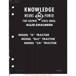 Allis Chalmers G B C Ca Service Manual