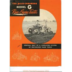 Allis Chalmers G Tractor Brochure 16 Pg Tl 542 Manual