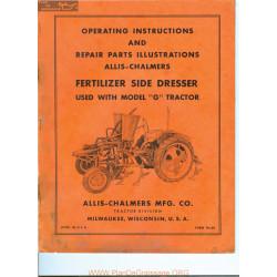 Allis Chalmers G Tractor Fertilizer Side Dresser Manual