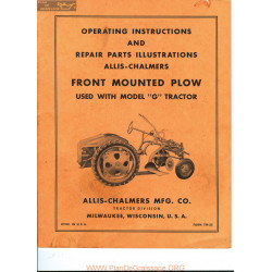 Allis Chalmers G Tractor Front Mounted Plow Tm 25 Manual