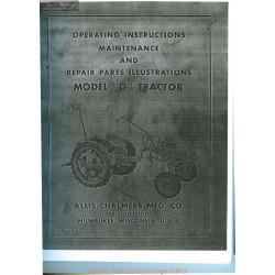 Allis Chalmers G Tractor Owners Repair Manual