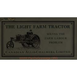 Allis Chalmers Light Farm Tractor Canadien
