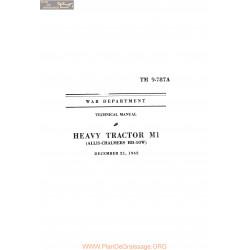 Allis Chalmers M1 Tm9 787a 1942 Manual