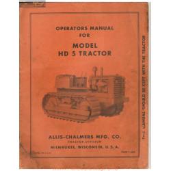 Allis Chalmers Model Hd5 Operators Manual
