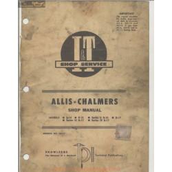 Allis Chalmers Tractor Models D14 D15 D17 Shop Manual