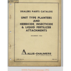 Allis Chalmers Unit Type Planters And Herbicide Insecticide And Liquid Fertilizer Attachments