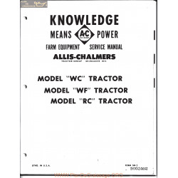 Allis Chalmers Wc Service Pt1 Manual