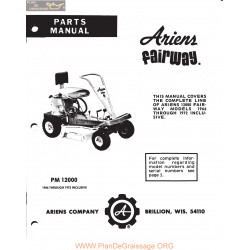 Ariens 1200 Fairway Parts Manual 1966 72