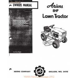 Ariens 8 Hp Lawn Tractor Owners Manual