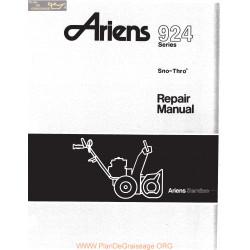 Ariens 924 Series Sno Thro Repair Manual 1978