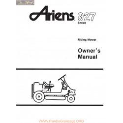 Ariens 927 Series Riding Mower Owners Manual