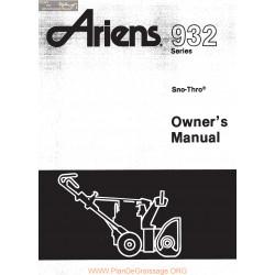 Ariens 932 Series Sno Thro Owners Manual