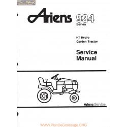 Ariens 934 Series Ht Hydro Garden Tractor Serivice Manual
