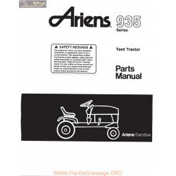 Ariens 935 Series Yard Tractor Parts Manual 1983