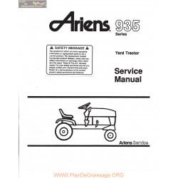 Ariens 935 Series Yard Tractor Service Manual 1983