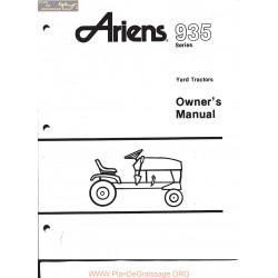 Ariens 935 Yard Tractors Owners Manual