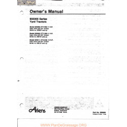 Ariens 935000 Yard Tractor Owners Manual 1983