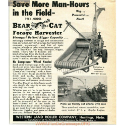 Bearcat 1951 Model Forage Harvester Advertisement 5wx6 5h