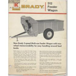Brady 512 Feeder Wagon Fiche Technique
