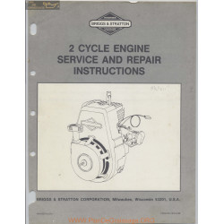 Briggs And Stratton 2 Cycle Engine Service And Repair Instructions 7879