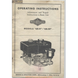 Briggs And Stratton 6bh 6bhf Operating Instructions