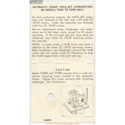 Briggs And Stratton Carburetor 92500 92598 Information