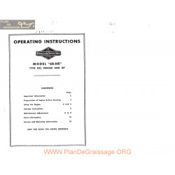 Briggs And Stratton Model 6b Hs Engine Operating Instructions