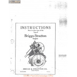 Briggs And Stratton Model P Engine Instructions