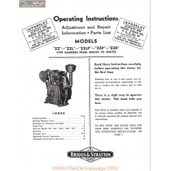 Briggs And Stratton Models Zz Zzl Zzlp Zzp Andzzr Operating Instructions