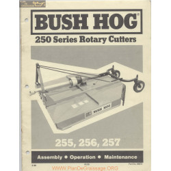 Bush Hog - Plan de Graissage