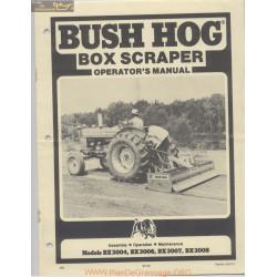 Bush Hog Scraper Operator Manual April 1972