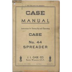 Case 44 Spreader D1506 Instruction Operating