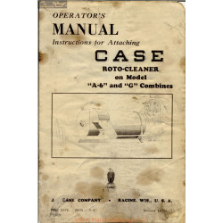 Case A6 & G Roto Cleaner Manuel