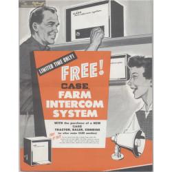 Case Farm Intercom System A57759a 1959