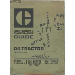 Caterpillar D4 Tractor Lubrication Maintenance Geg00779 01