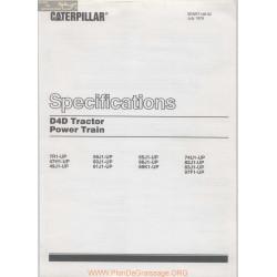 Caterpillar D4d Specifications Power Train 1976 Senr7148 02
