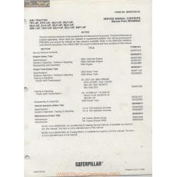 Caterpillar D4d Table Of Contents Senr7224 05