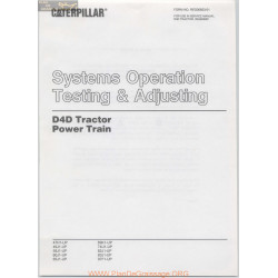 Caterpillar D4d Testing Adjusting Power Train February
