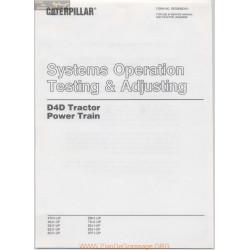 Caterpillar D4d Testing Adjusting Power Train February