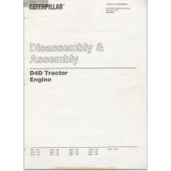 Caterpillar Disassembly Assembly D4d Tractor Engine 00890 01