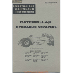 Caterpillar Hydraulic Scrapers Fe034081 03