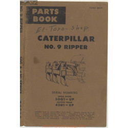 Caterpillar Number 9 Ripper Serial Numbers 50g1 Up And 43g1 Up
